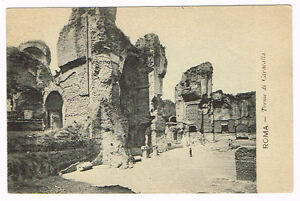 Vintage Postcard Italy 1900 ROMA ROME TERME DI CARACALLA ...