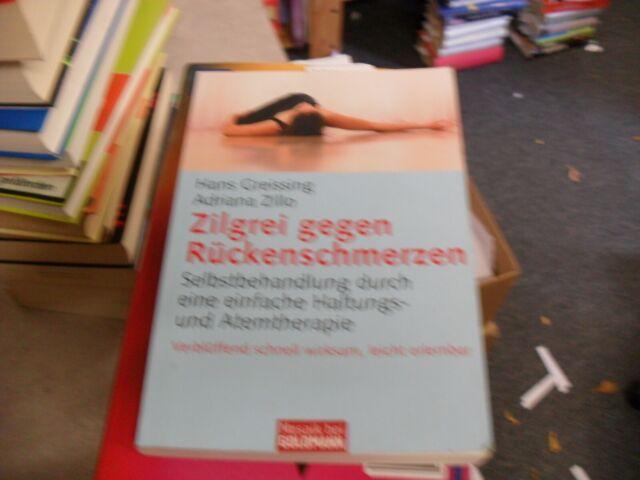 Zilgrei gegen Rückenschmerzen von Hans Greissing und Adriana Zillo