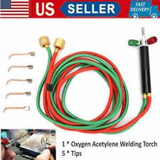 Propane Acetylene Welder Oxygen Gas Welding Torch Gun Cutting Kit With 5 Nozzles