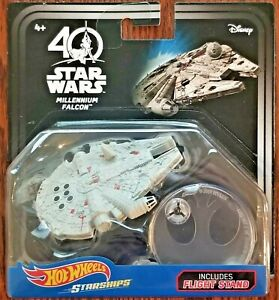 Disney Hot Wheels Star Wars Starships 40th Anniversary Millennium Falcon Sealed