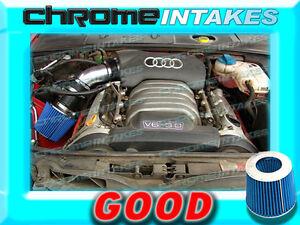 BLACK BLUE 2002 2003 2004 2005 AUDI A4 A6 A 4//6 3.0 3.0L V6 AIR INTAKE KIT