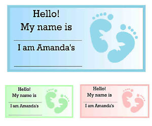 Lovely Image Is Loading 20 BABY SHOWER NAME TAGS Over 200 Graphics
