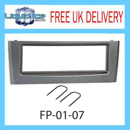 FP-01-07 Fiat Grande Punto Dark Grey Fascia Facia Adaptor Panel Free Keys PC5-83
