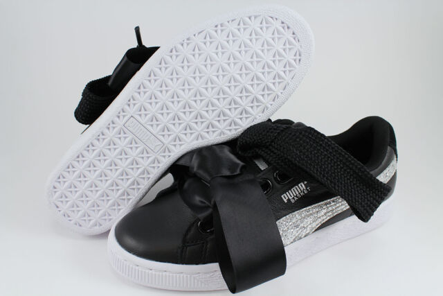 puma basket heart glitter sneakers