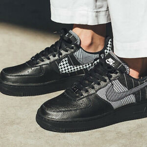 Nike Air Force 1 Low Sneakers Black White Size 6 7 8 9 Womens