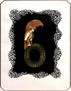 Erte-034-Number-6-034-Rare-Art-Deco-LITHOGRAPH