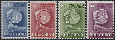 Stamps 1958 South Vietnam #96-99 Mnh Cleaning The Oral Cavity. Other Asian Stamps Honey Vietnam Du Sud N°98/101** Droits De L'homme