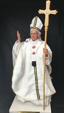 POPE FRANCIS DOLL ROMAN CATHOLIC CHURCH STATUE GOLDEN STAFF