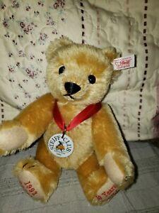 STEIFF Club Edition 2002 Decade Teddy Bear 10 in Blond Mohair Plush EAN 420320