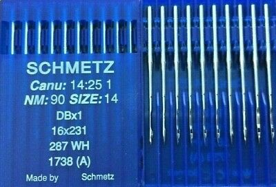 SCHMETZ  CANU:26:30 1 NM:90 SIZE:14 B-64 TVX64 INDUSTRIAL SEWING MACHINE NEEDLES