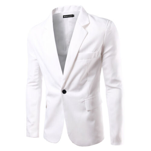 New Fashion Men/'s Slim Fit One Button Suit Blazer Coats Jackets Casual Tops