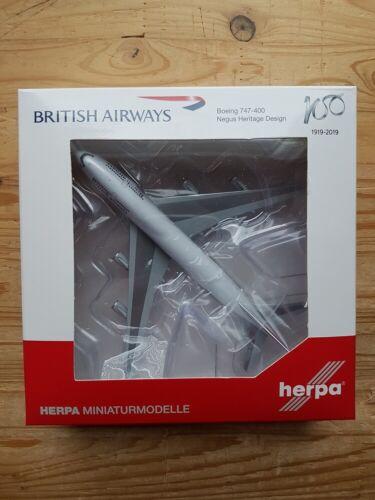 """Herpa 533508-1//500 british airways boeing 747-400/"""" 100 th /""""Negus Design-nuevo"""