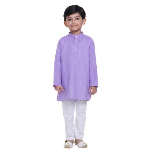 Traditional Indian Garçons Enfants Coton Kurta Pyjam for Kids Ethnic Wear Kurta Pyjam
