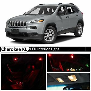 Image Is Loading 2014 2015 Jeep Cherokee KL Red Interior License