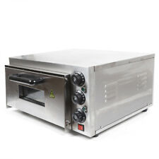 Sale2kw Electric Pizza Maker Single Deck Stainless Steel Pizza Oven Damaged