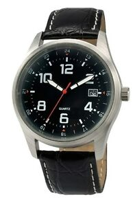 Black-Sports-Watch-Luxury-Leather-Band-Quartz-Wrist-Men-Fashion-Analog-White
