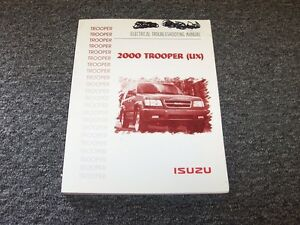 2000 Isuzu Trooper SUV Electrical Wiring Diagram Manual S ...