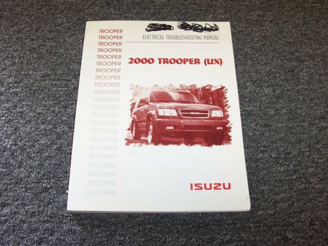 2000 Isuzu Trooper Suv Electrical Wiring Diagram Manual S Xs Ls 2 6l 2 8l V6