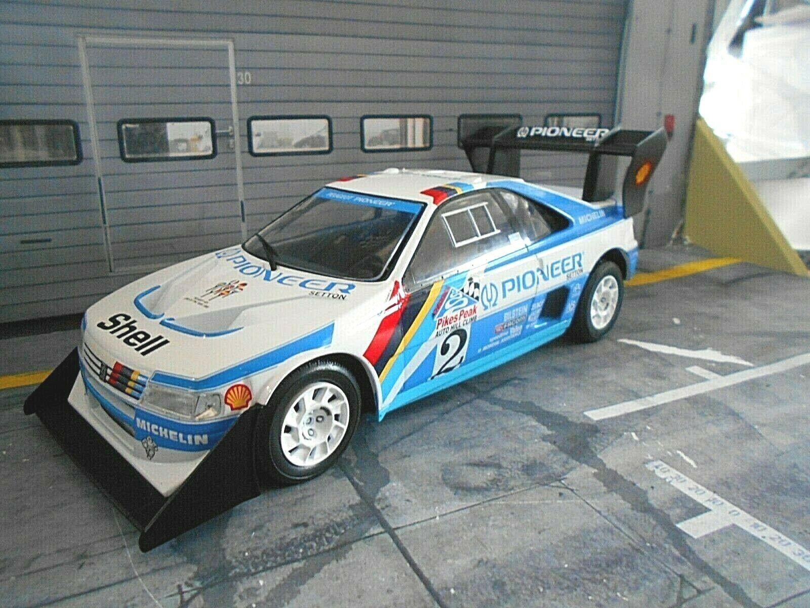 PEUGEOT 405 t16 Pikes Peak Race Winner  2 Vatanen PIONEER 1988 Winne ALTAYA 1 18