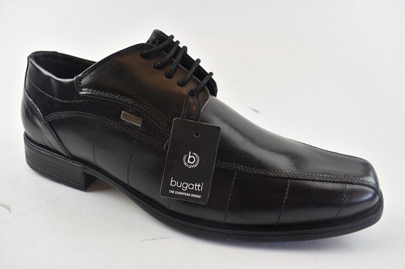 Bugatti Herren Business-Schuh Schwarz Leder in Gr.41