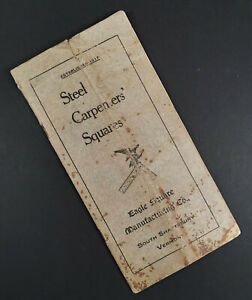 Original-c-1910-EAGLE-SQUARE-MANUFACTURING-CO-36-Page-Catalog-CARPENTER-039-S-TOOL