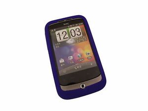 Blue-Soft-Silicone-Skin-Case-for-HTC-Wildfire
