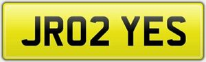 JR02-YES-PERSONALISED-REG-NUMBER-PLATE-ALL-FEES-PAID-JR-INITIALS-JRS-JNR-JUNIOR