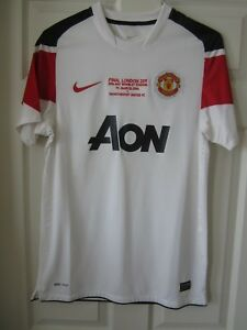 lowest price 61db5 a6856 Details about Nike 2011 Manchester United Champions League Final Player  Issue Football Shirt M