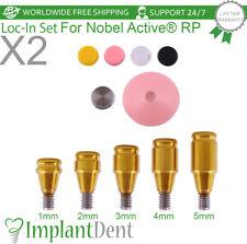 2 Loc In Titanium Abutment Kit For Nobel Biocare Active Hex Rp Dental Implant