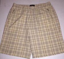 Womens Lyle & Scott Scotland plaid shorts waist 32