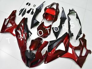For-BMW-S1000RR-2009-2014-ABS-Injection-Mold-Bodywork-Fairing-Kit-Metallic-Red