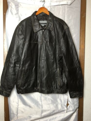 Excelled Collection Leather Jacket, Mens Large