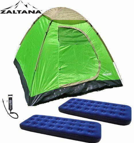 Zaltana 3 Person Tent with 2 Air Matssingle and Air Pump Set