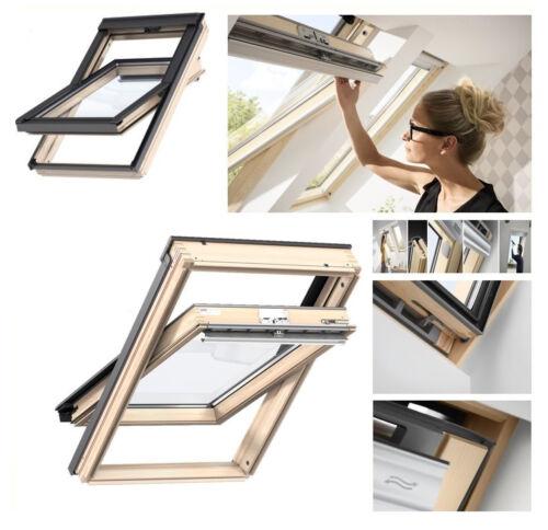 Dachfenster Schwingfenster VELUX GZL 1051 aus Holz mit EDZ Montagezubehör MXT