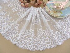 "5/""*1Y Embroidered Tulle Lace Trim~Snow White~Twinkling Stars~Wedding//Sewing//DIY~"