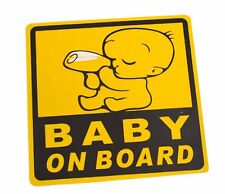 Car Exterior Baby on Board Safety Sign Sticker Decal Yellow 11 x 11 cm stickers
