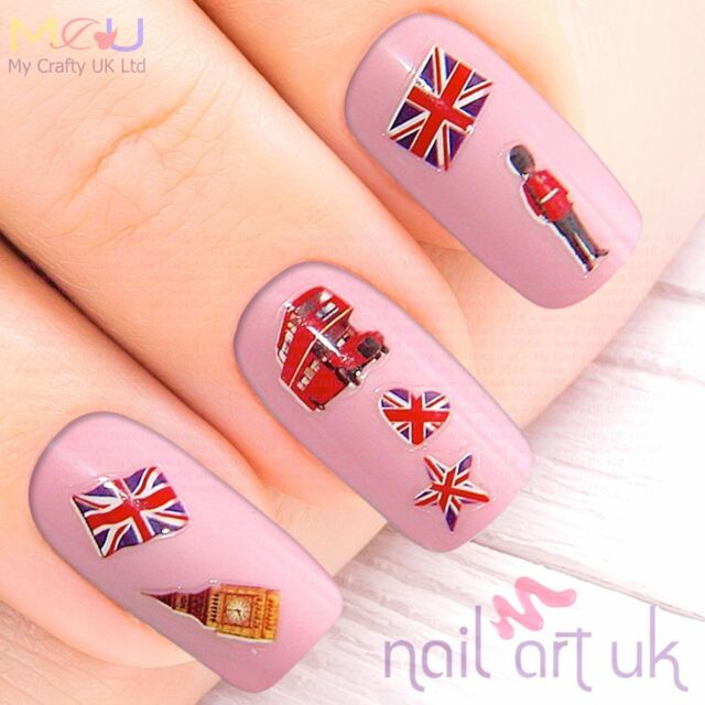 British Nail Stickers Art Decals London Uk English Flag 0102052 Ebay