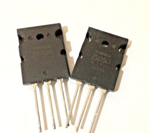 PNP Transistor for Power Amplifier 100W 2SC5200 2SA1943-5 PAIRS Silicon NPN