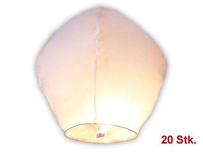 Lot de 20 Lanterne volante chinoise blanche blanc fête soirée mariage romantique