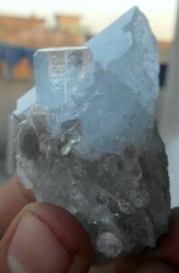 95 Grams Beautiful Aquamarine CrystalS BUNCH From Nagar Pakistan