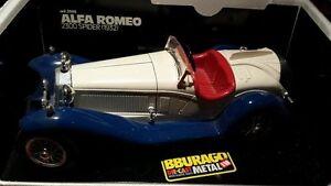 Bburago-alfa-ROMEO-2300-SPIDER-1932-cod-3008-die-CAST-METAL-MODELO