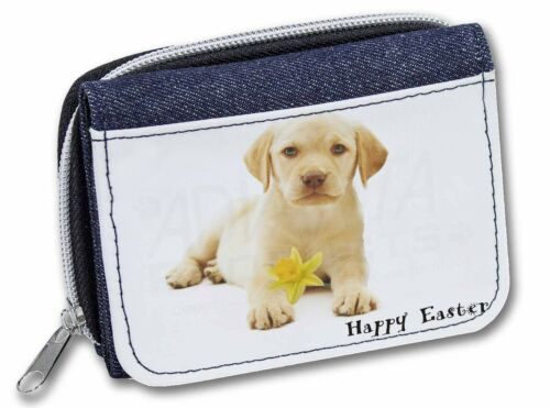 'Happy Easter' Goldie Puppy GirlsLadies Denim Purse Wallet Christma, ADL4DA1JW