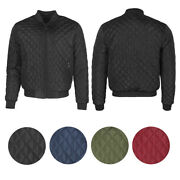 Maximos Men's Jason Zip Up Front Pocket Quilted Bomber Jacket