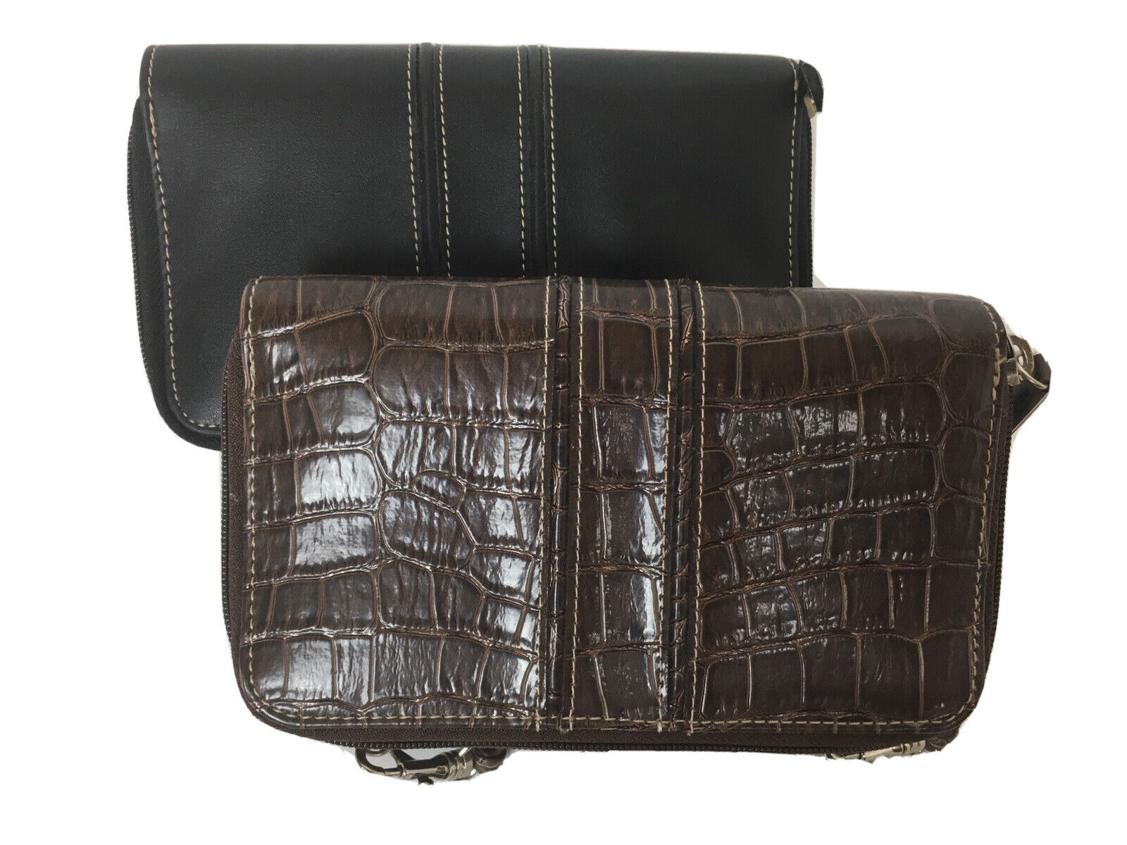 (2) WOMEN'S LIZ CLAIBORNE WALLET CROSSBODY WITH CREDIT CARD & PHONE HOLDER BAG