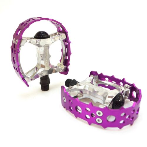 "Tipsum Odyssey Bear Trap 9//16/"" 1//2/"" BMX Sharp Pin Pedal fit 3 Piece Crank-Purple"