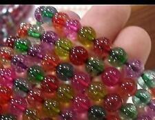 6mm, Tourmaline multicolore ronde perles en vrac ,38cm