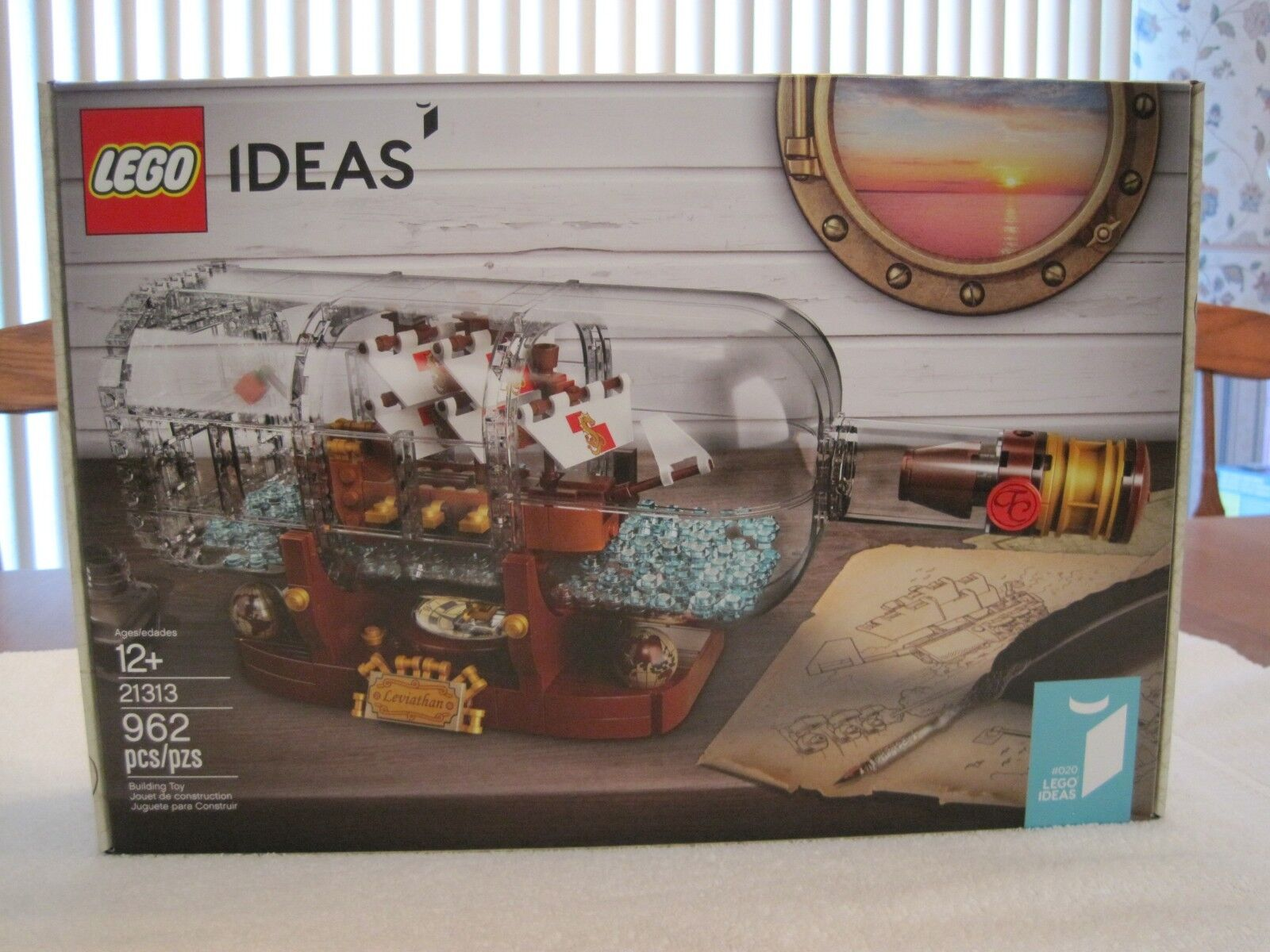LEGO 21313 IDEAS' SHIP IN A BOTTLE 962 PIECES---NEW--FACTORY SEALED