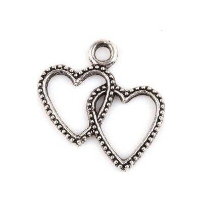 10 Breloques /_ Croix argentée 21x11,5mm /_ Perles charms création bijoux /_ B460