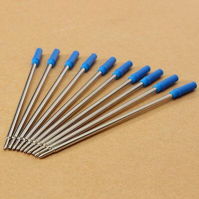10pcs Blue Ink Ballpoint Pen Refills Fine Point Standard Medium for Cross Type