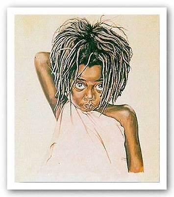 AFRICAN AMERICAN ART PRINT Pretty Eyes Tom McKinney